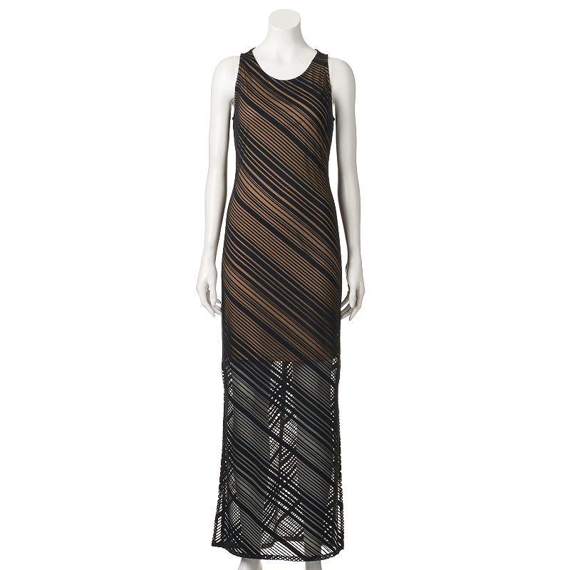 Women's Apt. 9® Burnout Striped Maxi Dress