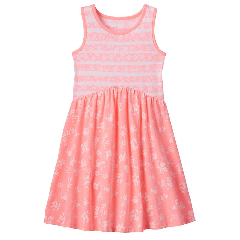 Disney's Minnie Mouse Girls 4-7 Striped Floral Dress by Jumping Beans®