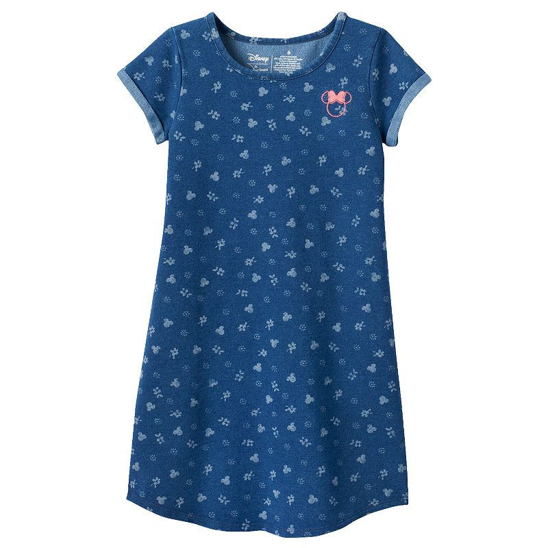 Disney's Minnie Mouse Girls 4-7 Floral Chambray Shift Dress by Jumping Beans®