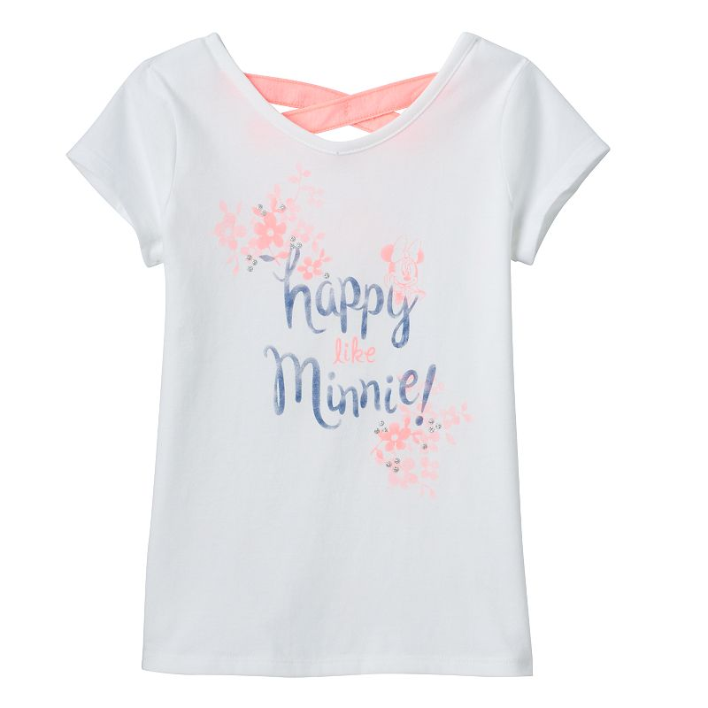 Disney's Minnie Mouse Girls 4-7 Cross-Back Glitter Tee by Jumping Beans®
