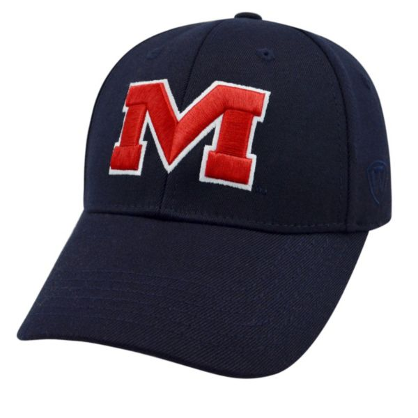 Adult Top of the World Ole Miss Rebels Premium Collection One-Fit Cap