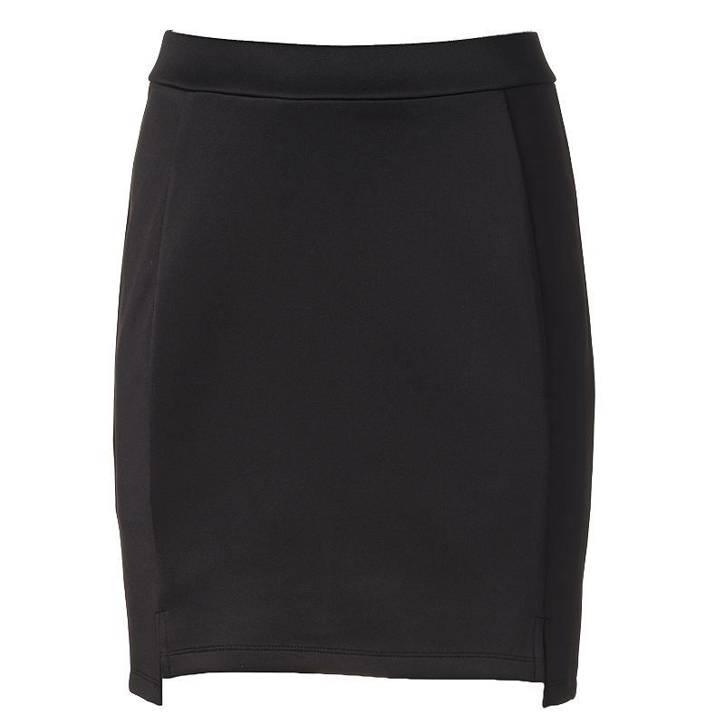 Women's Apt. 9® Notch-Hem Scuba Mini Skirt