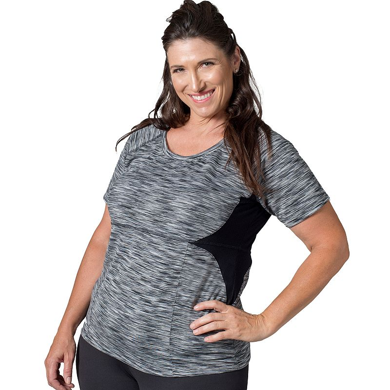 Plus Size Soybu Evelyn Space-Dye Scoopneck Yoga Tee