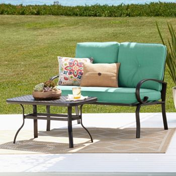 2-piece Set Patio Loveseat & Coffee Table