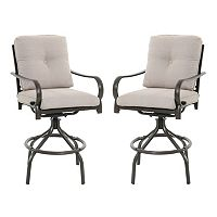 SONOMA Goods for Life™ Claremont Swivel High Patio Chair 2-piece Set