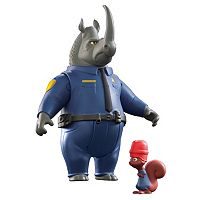 Disney's Zootopia McHorn & Safety Squirrel Character Figure Set by Tomy