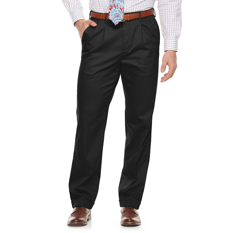 Men's Croft & Barrow® Classic-Fit Pleated No-Iron Stretch Pants