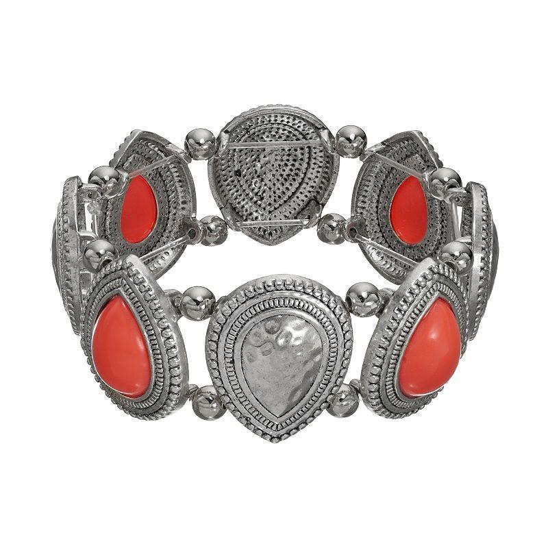 Teardrop Cabochon Stretch Bracelet