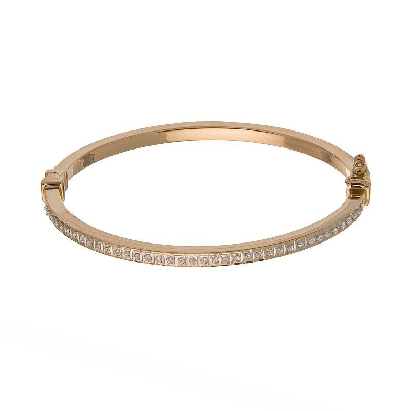 Diamond Fascination 14k Gold Diamond Accent Bangle Bracelet - Baby