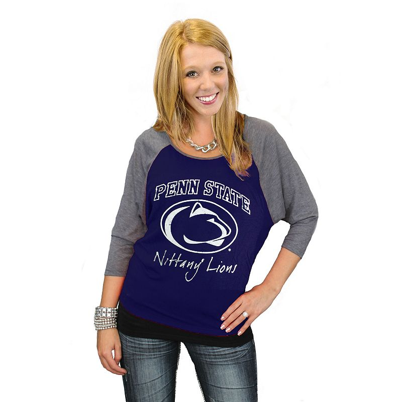 Women's Gameday Couture Penn State Nittany Lions Vintage Raglan Tee