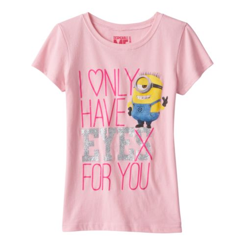 Girls 7-16 Despicable Me Minion ''Eye For You'' Tee