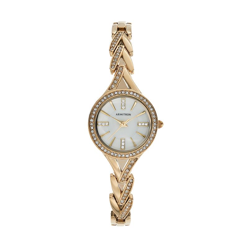 Armitron Women's Crystal V-Link Watch - 75/5391MPGP