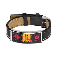 Star Wars: Episode VII The Force Awakens Men's Red Squadron Leather Bracelet