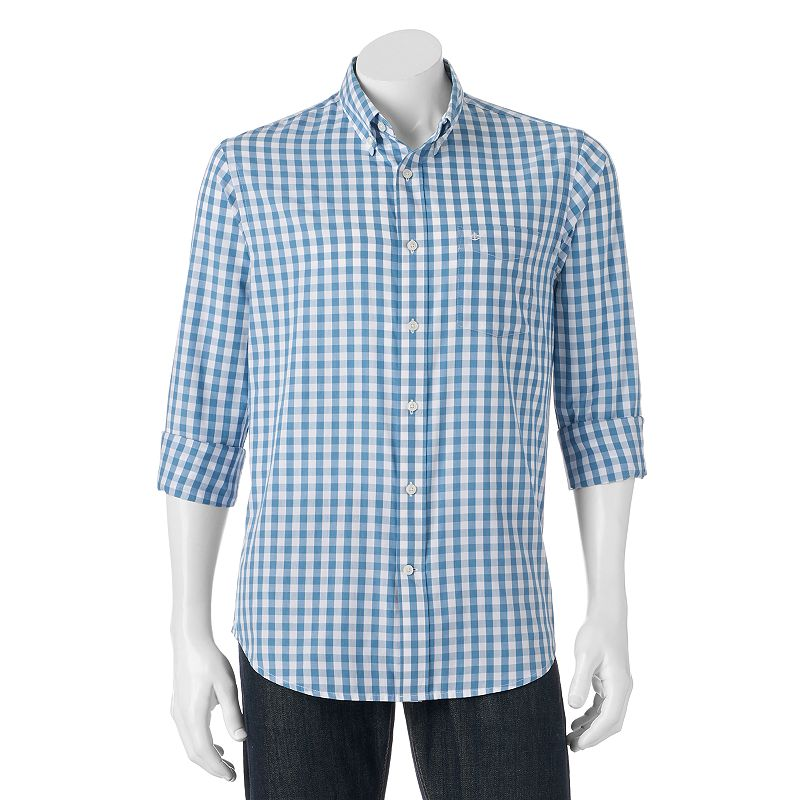 Men's Dockers Signature Backwall Checked Button-Down Shirt