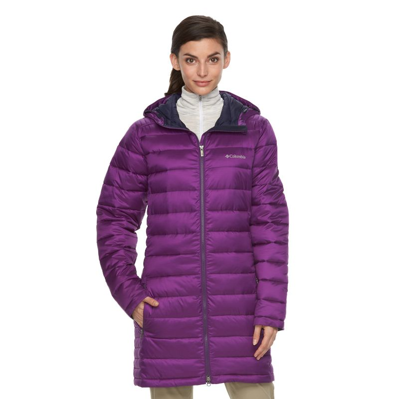 Women's Columbia Frosted Ice Hooded Puffer Jacket, Size: XL, Purple Oth