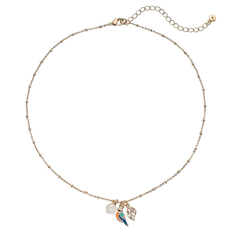 LC Lauren Conrad Leaf, Bird & Flower Charm Necklace