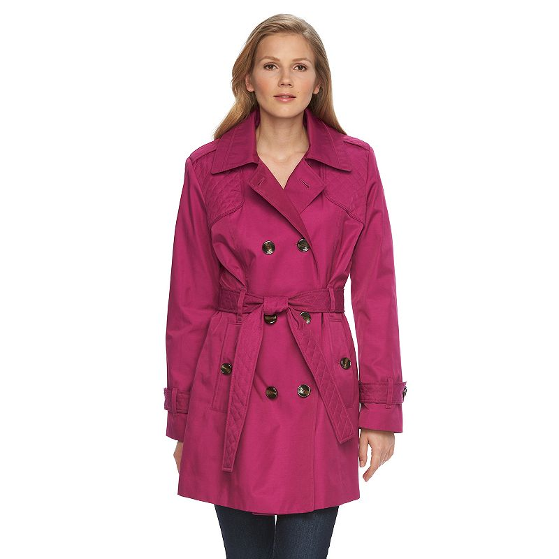 Women's Towne by London Fog Quilted Trench Coat
