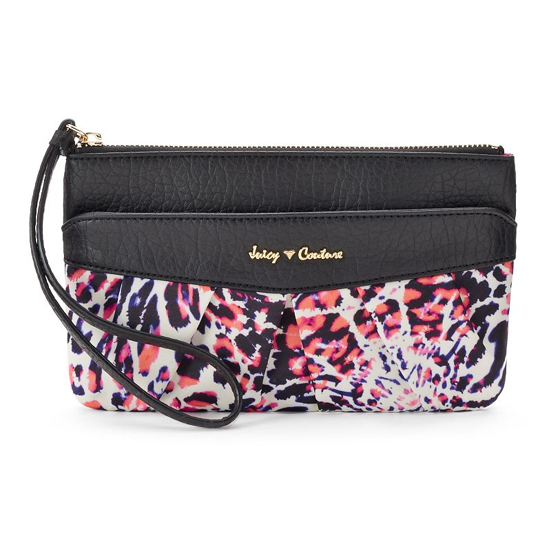 Juicy Couture Pleated Abstract Wristlet