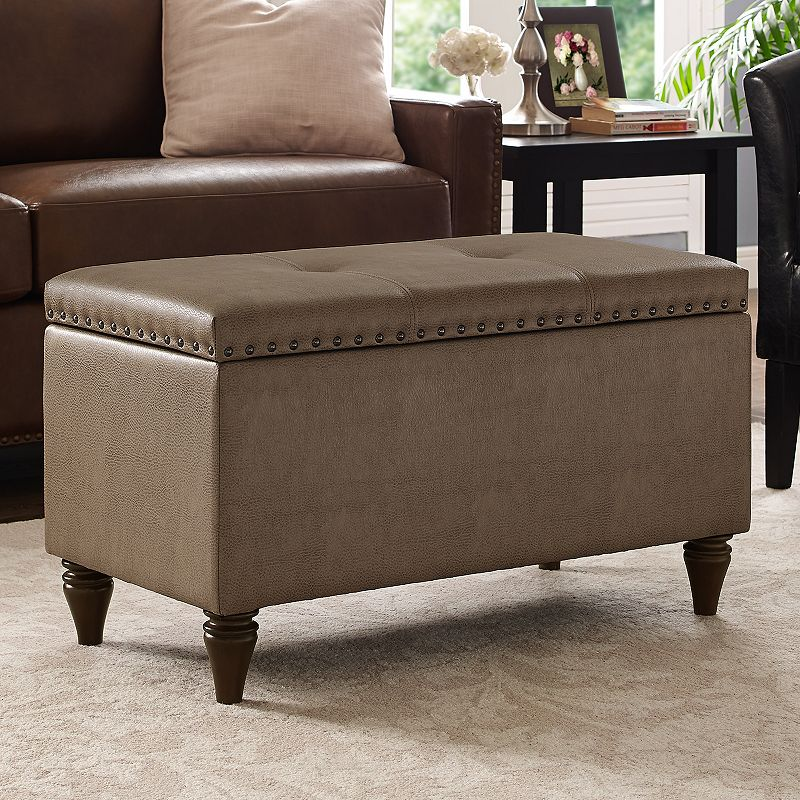 Tufted Storage Bench Ottoman