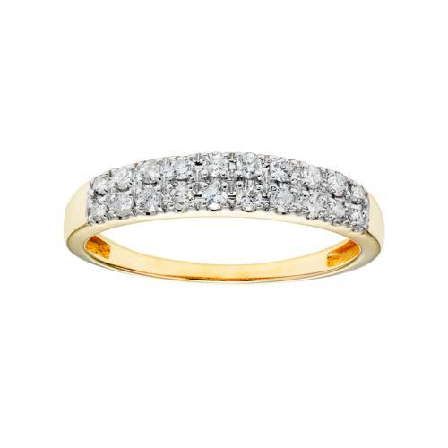 Cherish Always 10k Gold 1/3 Carat T.W. Certified Diamond Wedding Ring
