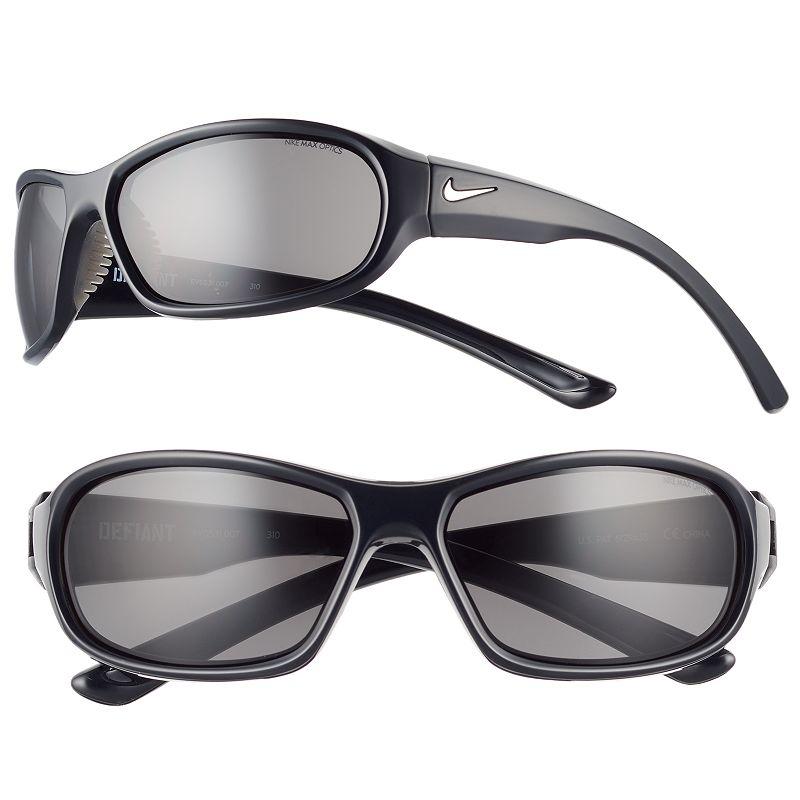 Men's Nike Defiant Rectangular Wrap Sunglasses