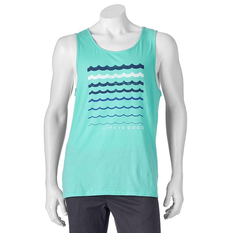 Men's Slim-Fit Aqua Waves Tank Top