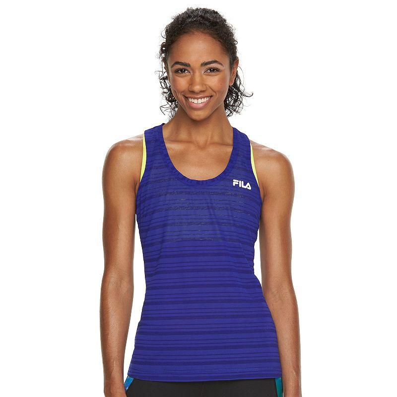 Women's FILA SPORT® Spider Striped Workout Tank