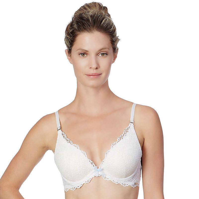 Montelle Intimates Bra: Bohemian Bridal Lace Plunge Push-Up Bra 9250