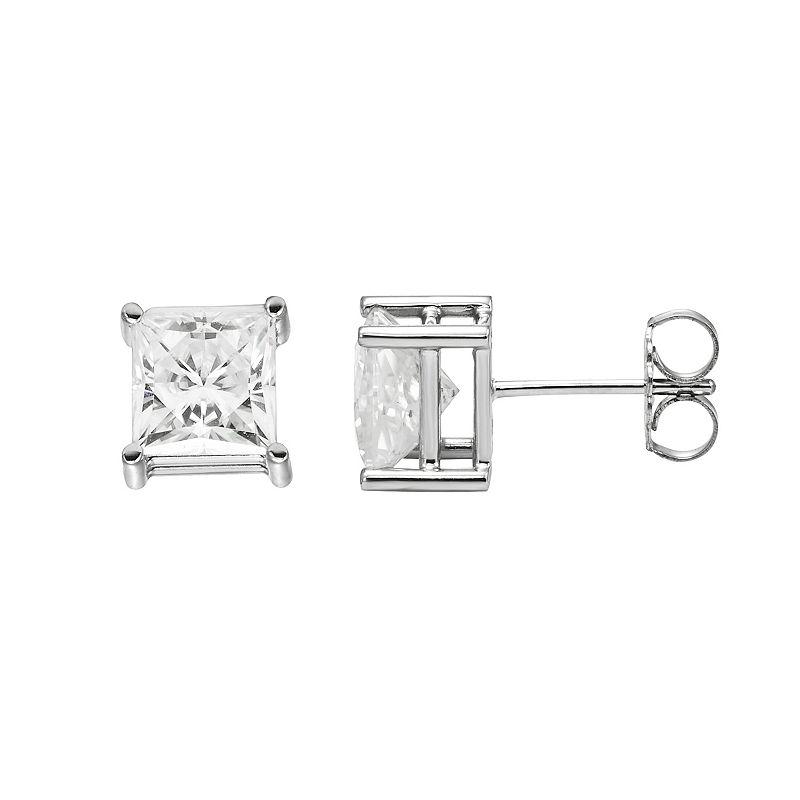 Forever Brilliant 14k White Gold 2 5/8 Carat T.W. Lab-Created Moissanite Stud Earrings