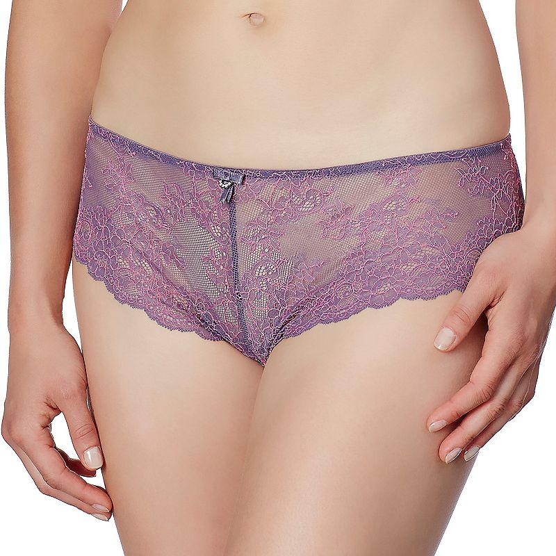 Montelle Intimates Boudoir Glamour Sheer Lace Cheeky Brazillian Panty 9246