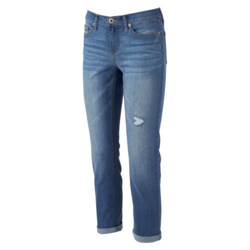 Juniors' Mudd® Roll-Cuff Straight Leg Jeans