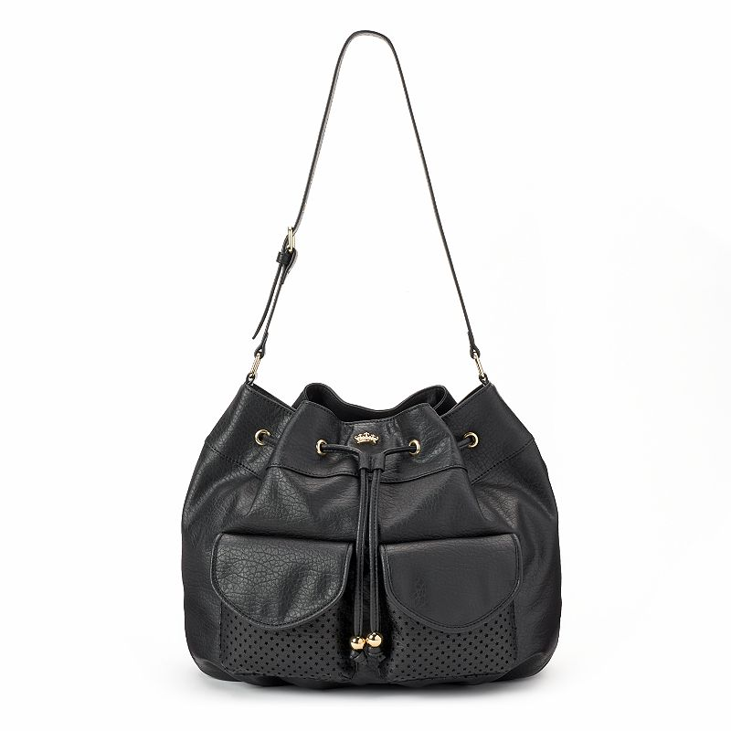 Juicy Couture Laser-Cut Star Drawstring Hobo