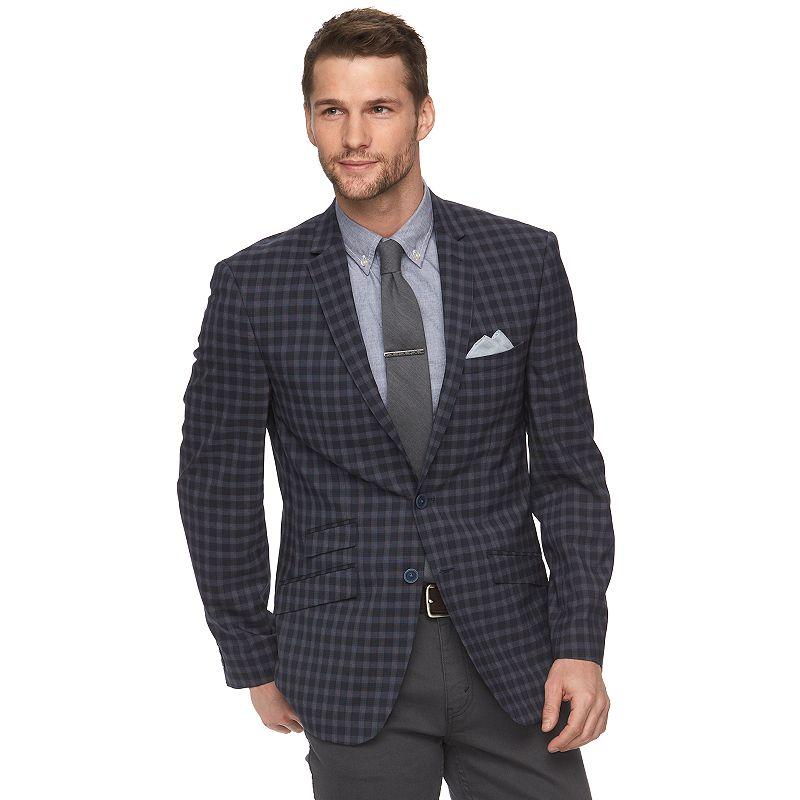 Men's Andrew Fezza Modern-Fit Check Sport Coat