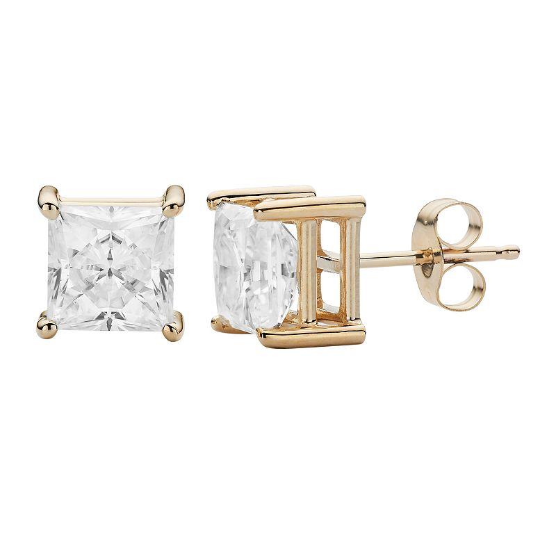 Forever Brilliant 14k Gold 2 5/8 Carat T.W. Lab-Created Moissanite Stud Earrings