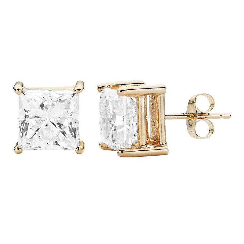 Forever Brilliant 14k Gold 4 1/5 Carat T.W. Lab-Created Moissanite Stud Earrings