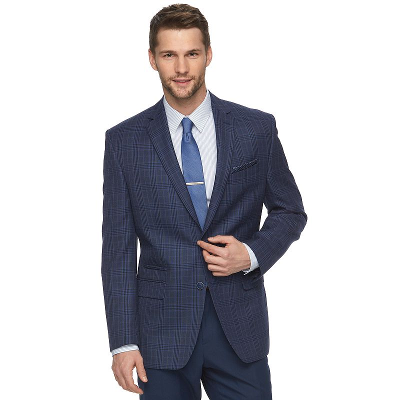 Men's Van Heusen Modern-Fit Checkered Suit Jacket