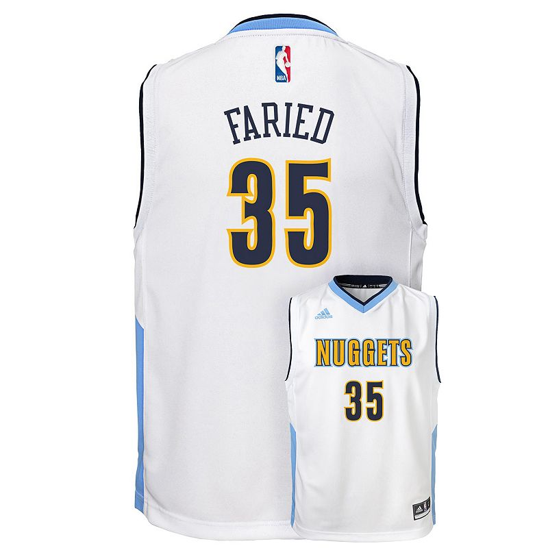 Boys 8-20 adidas Denver Nuggets Kenneth Faried Replica Jersey