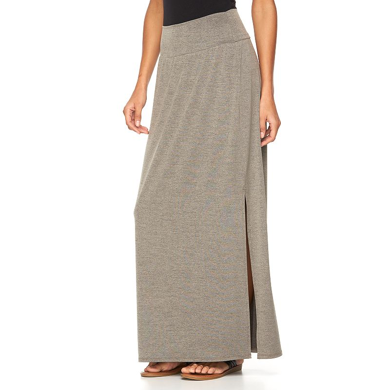 Women's AB Studio Heathered Maxi Skirt