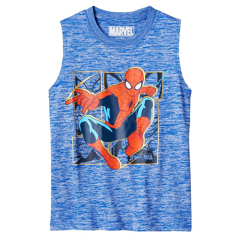 Boys 4-7 Marvel Spider-Man Space-Dyed Muscle Tank