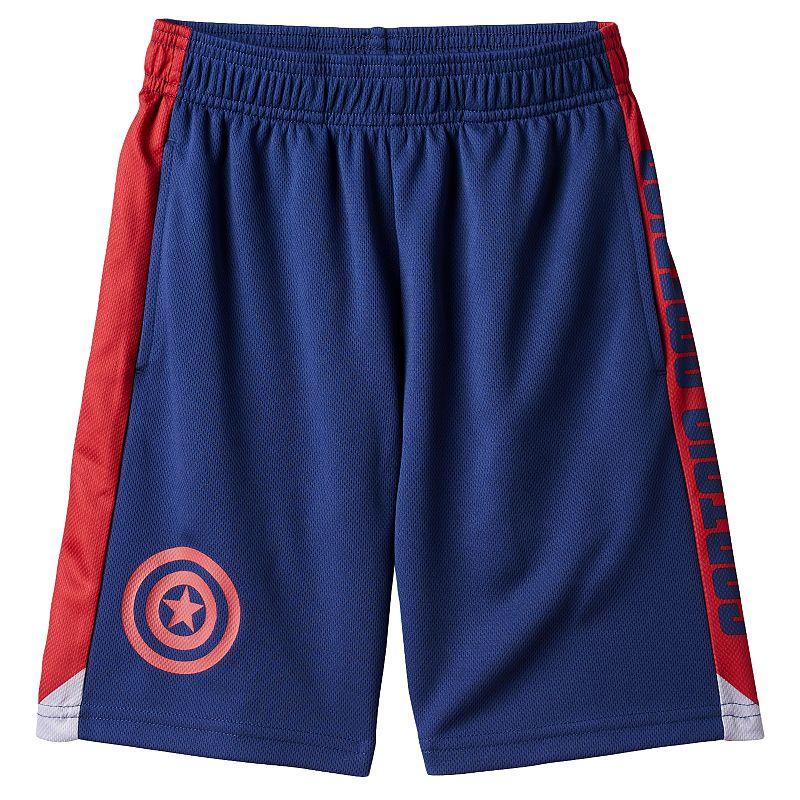 Boys 4-7 Marvel Captain America Athletic Shorts