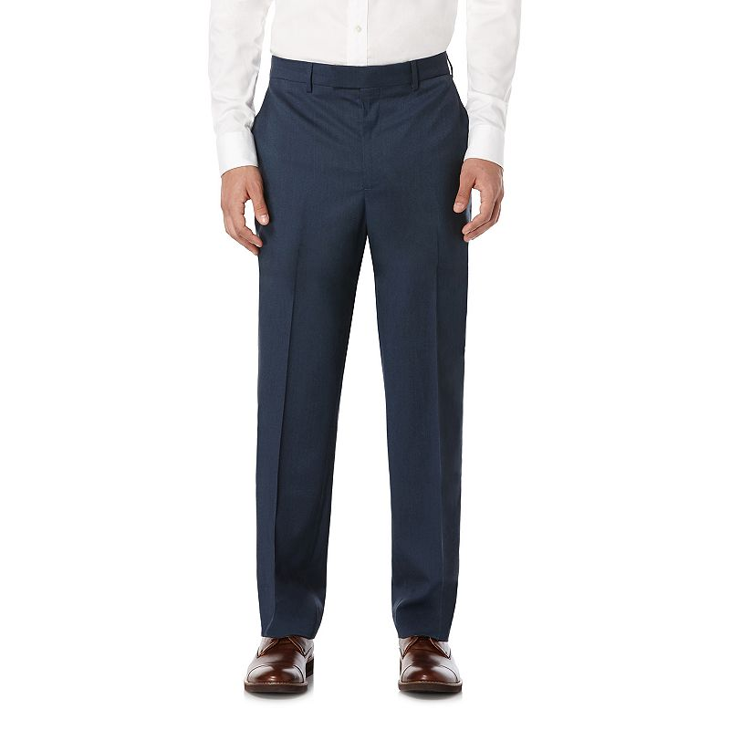 Men's Savane Premium Flex Tailored Straight Fit Flat-Front Dress Pants