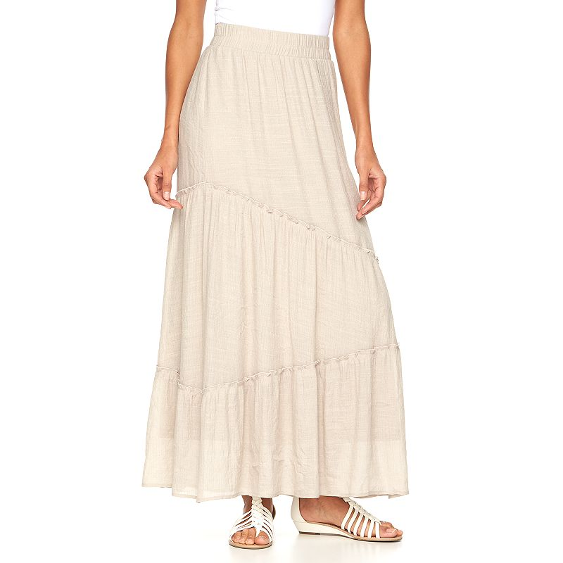 Women's AB Studio Tiered Maxi Skirt