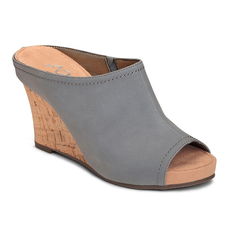 A2 by Aerosoles Plushed Metal Women's Slip-On Wedge Sandals
