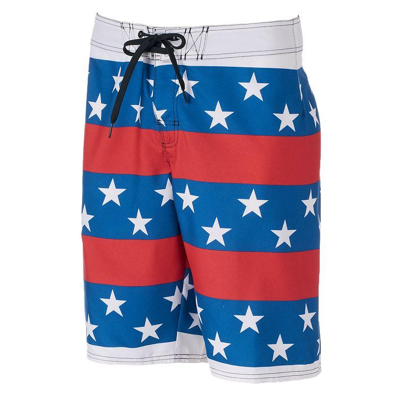 Men's Hang Ten Stars & Stripes Swim Trunks
