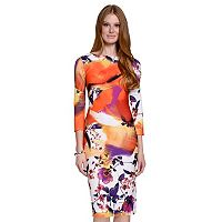 Women's Indication by ECI Floral Sheath Dress
