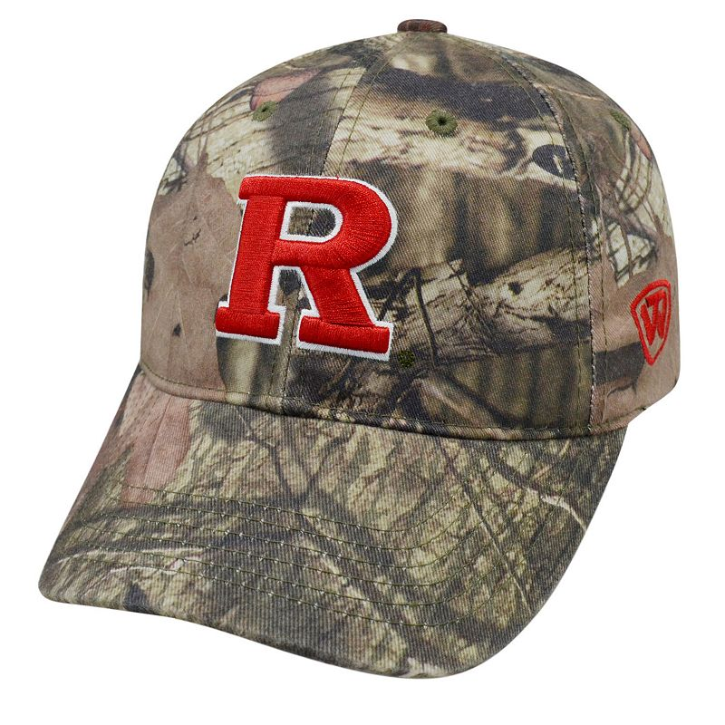 Adult Top of the World Rutgers Scarlet Knights Resistance Mossy Oak Camouflage Adjustable Cap