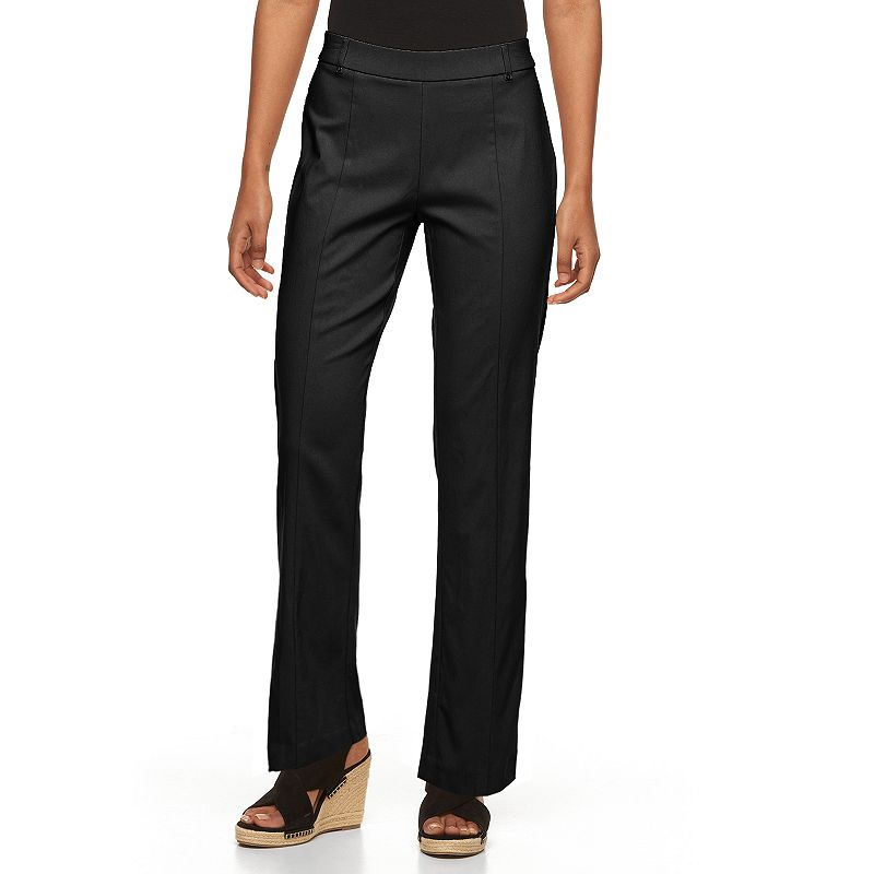 Petite Napa Valley Slimming Solution Straight-Leg Dress Pants