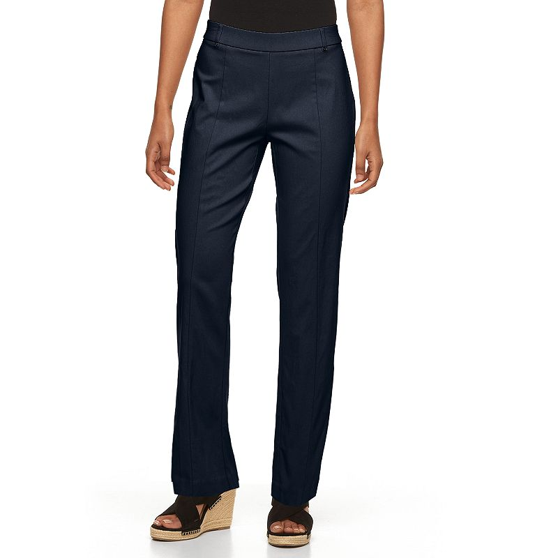 Petite Napa Valley Slimming Solution Straight-Leg Dress Pants