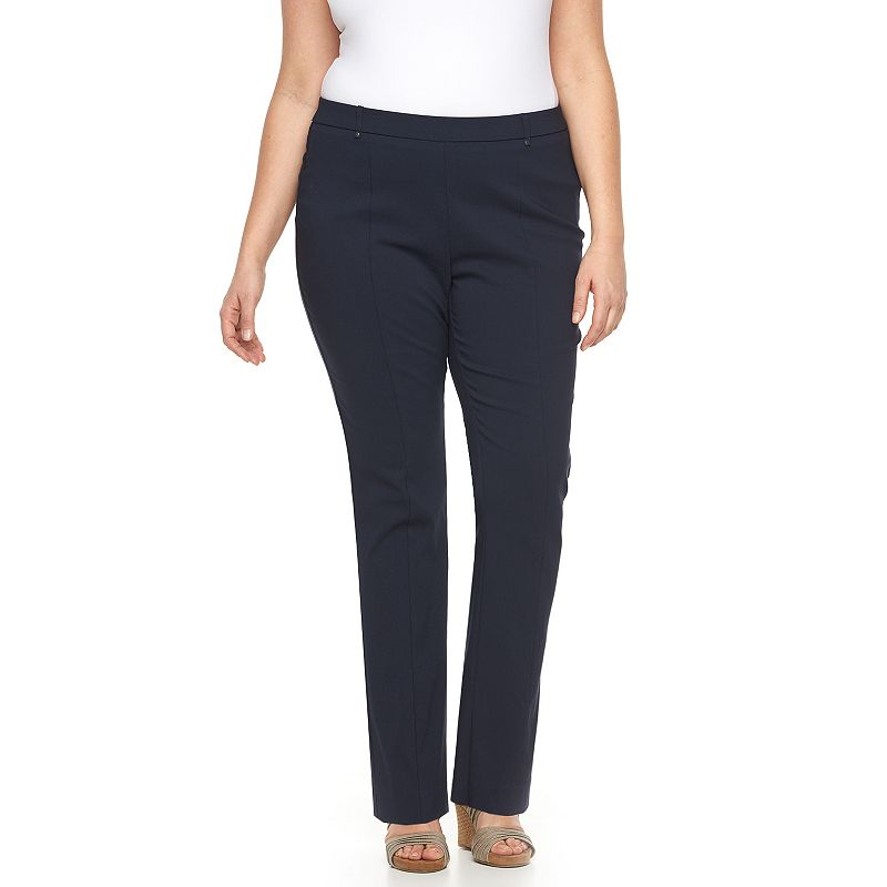 Plus Size Napa Valley Slimming Solution Straight-Leg Dress Pants