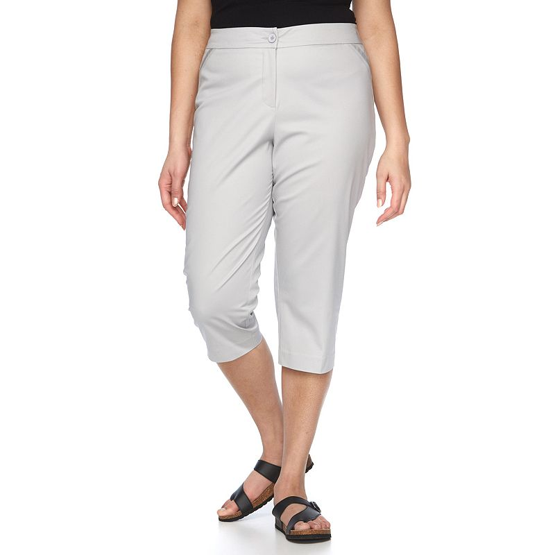 Plus Size Napa Valley Slimming Twill Capris